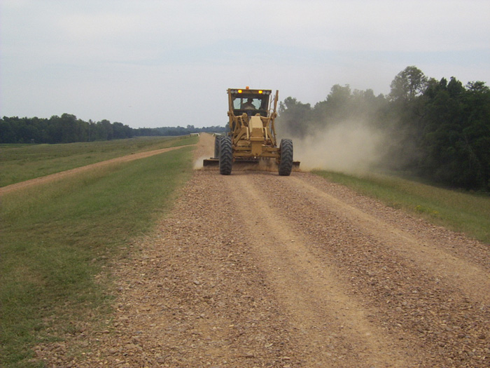 Grading on the Levee